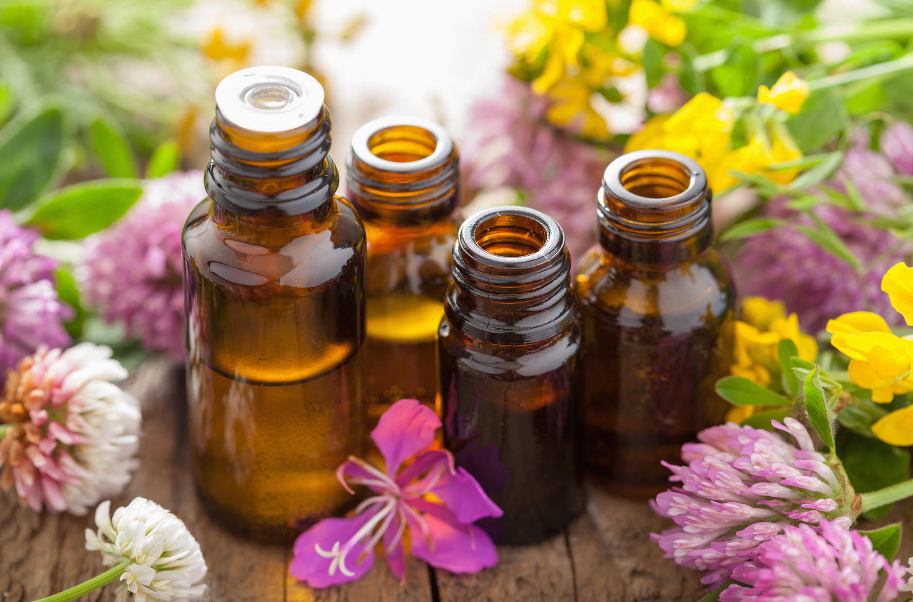 Different kinds of essential oils